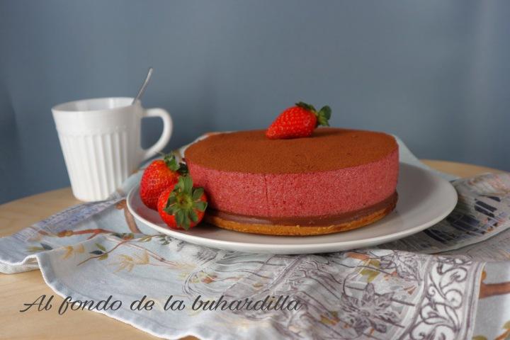Tarta Mousse de Frutos Rojos y Chocolate alGinebra